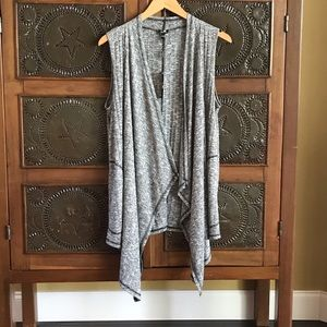 Cable & Gauge Waterfall Cardigan Vest